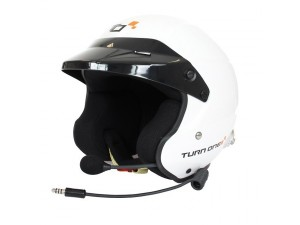 Casque FIA Jet TURN ONE Jet-RS Intercom PELTOR blanc 2015