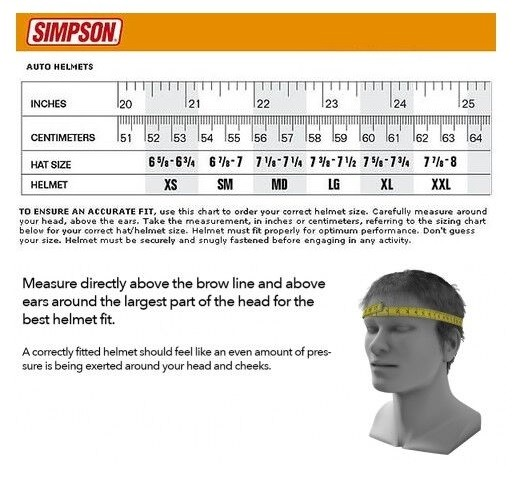 guide tailles casques SIMPSON
